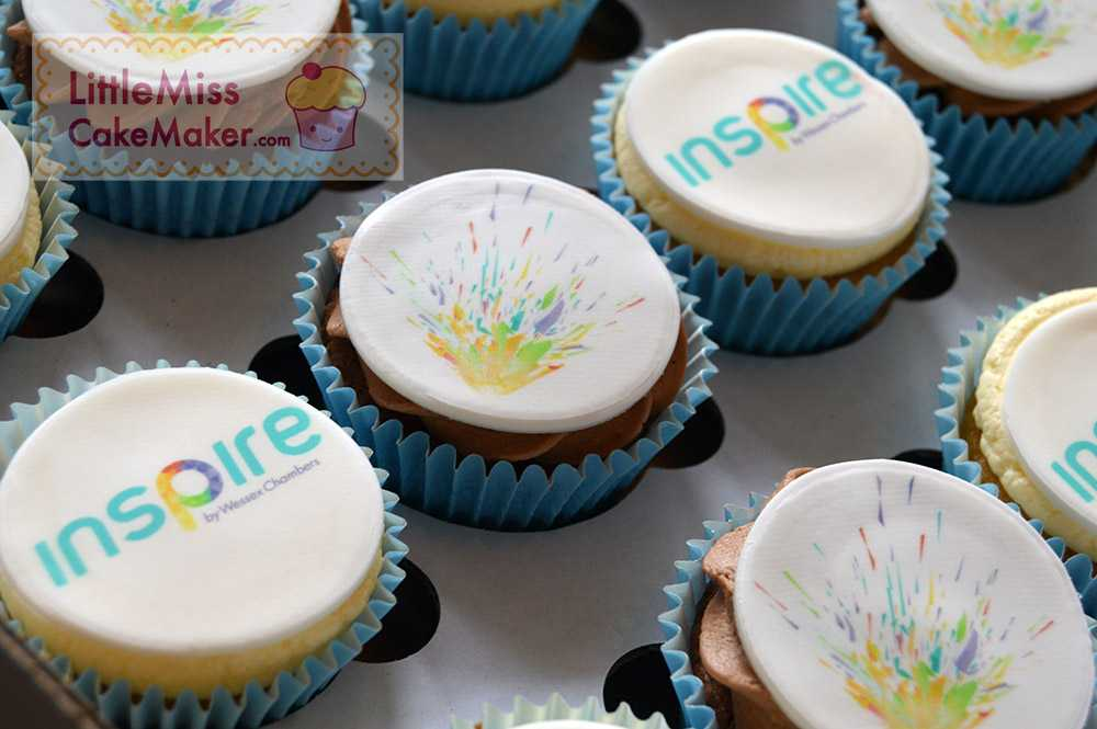 Little Miss Cake Maker wedding cakes with a difference - branded cupcakes