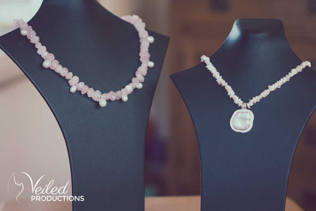 Emily Fermor wedding Jewellery - necklaces - photography by Veiled Productions