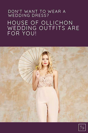 Don't want to wear a wedding dress? House of Ollichon dressless wedding outfits - Pinterest image