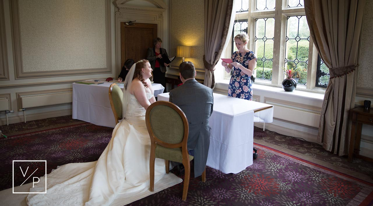 Horwood House wedding at Easter - ceremony readings