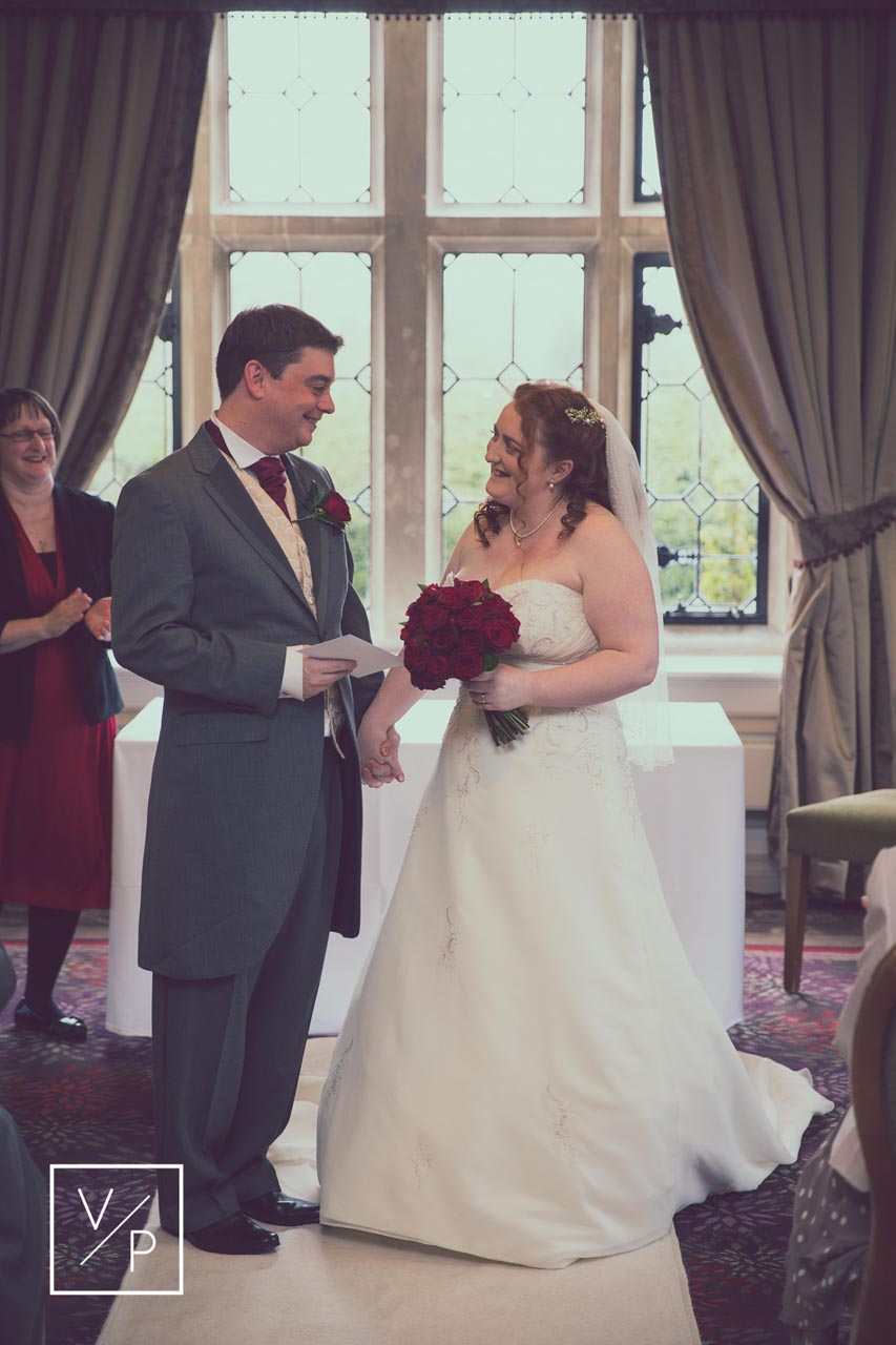 Horwood House wedding at Easter. We love the smiles between the newly married couple!