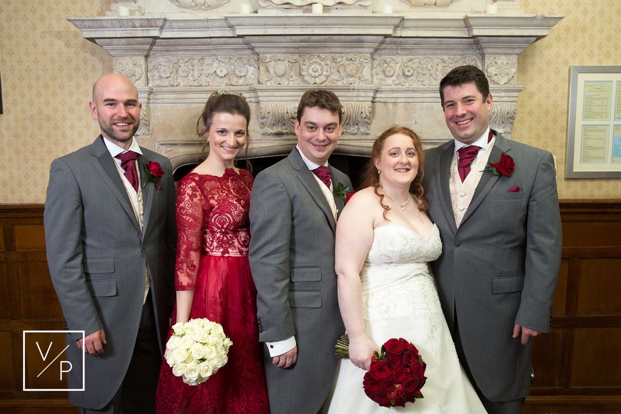 Horwood House wedding at Easter - formal photos of the bridal party by Veiled Productions.
