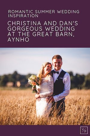 Christina and Dan at sunset - The Great Barn wedding videographer Veiled Productions