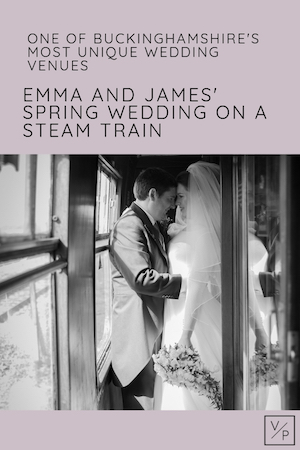 Emma and James onboard the steam train at one of Buckinghamshire's most unique wedding venues. Buckinghamshire Railway Centre wedding video and photography by Veiled Productions. Fun, unique wedding films for modern, family focused couples.