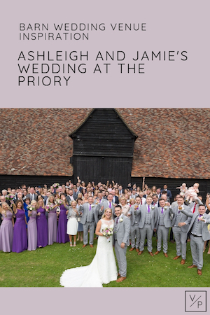 Ashleigh and Jamie's wedding at The Priory barn wedding venue hertfordshire - photography and videography by Veiled Productions