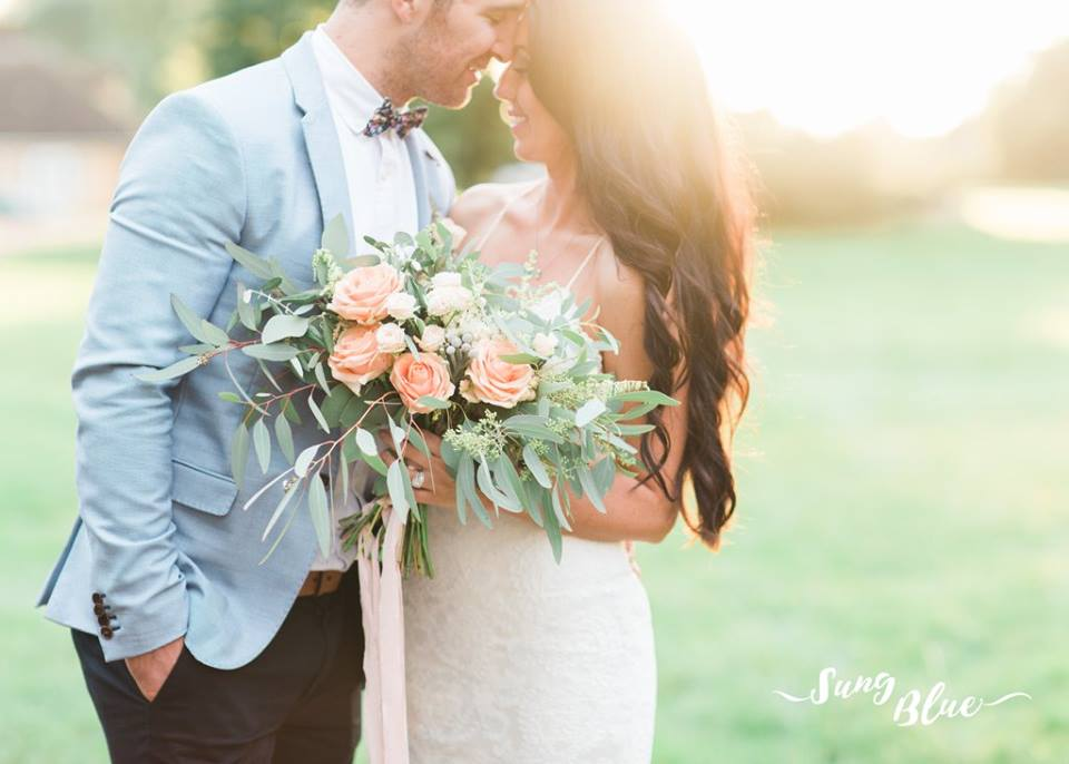 Gorgeous sunset wedding photo by Sung Blue Wedding Photography - Claire Clarke Destination Wedding Advice
