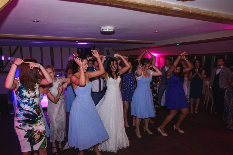bride-and-bridesmaids-dancing-jn-sounds-good-wedding-djs-hertfordshire