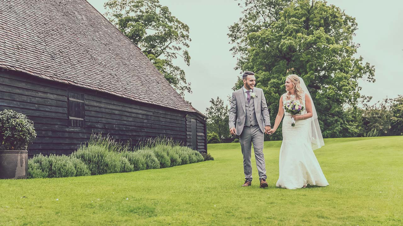 Ashleigh and Jamie at The Priory barn wedding venue Hertfordshire by Veiled Productions - award winning videography Hertfordshire