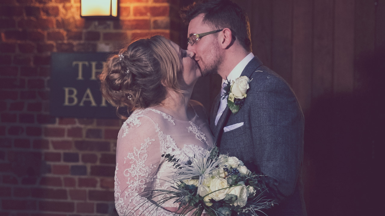 The pros of a winter wedding – Mike & Hannah at Bury Court Barn