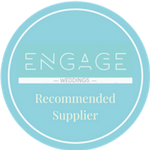 Engage Weddings Recommended Supplier Badge for Veiled Productions - Fun wedding films Northants