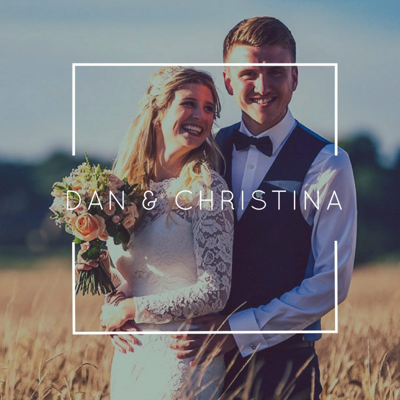 Bride and Groom Dan and Christina - Natural style wedding films by Veiled Productions award winning wedding videographer Cambridgeshire