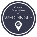 Proud member of Weddingly badge - Veiled Productions - Fun wedding films Northants