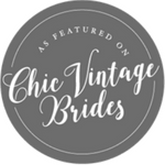 As featured on Chic Vintage Brides Badge - Veiled Productions - Fun wedding films Northants
