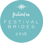 Featured on Festival Brides badge - Veiled Productions - Fun wedding films Northants