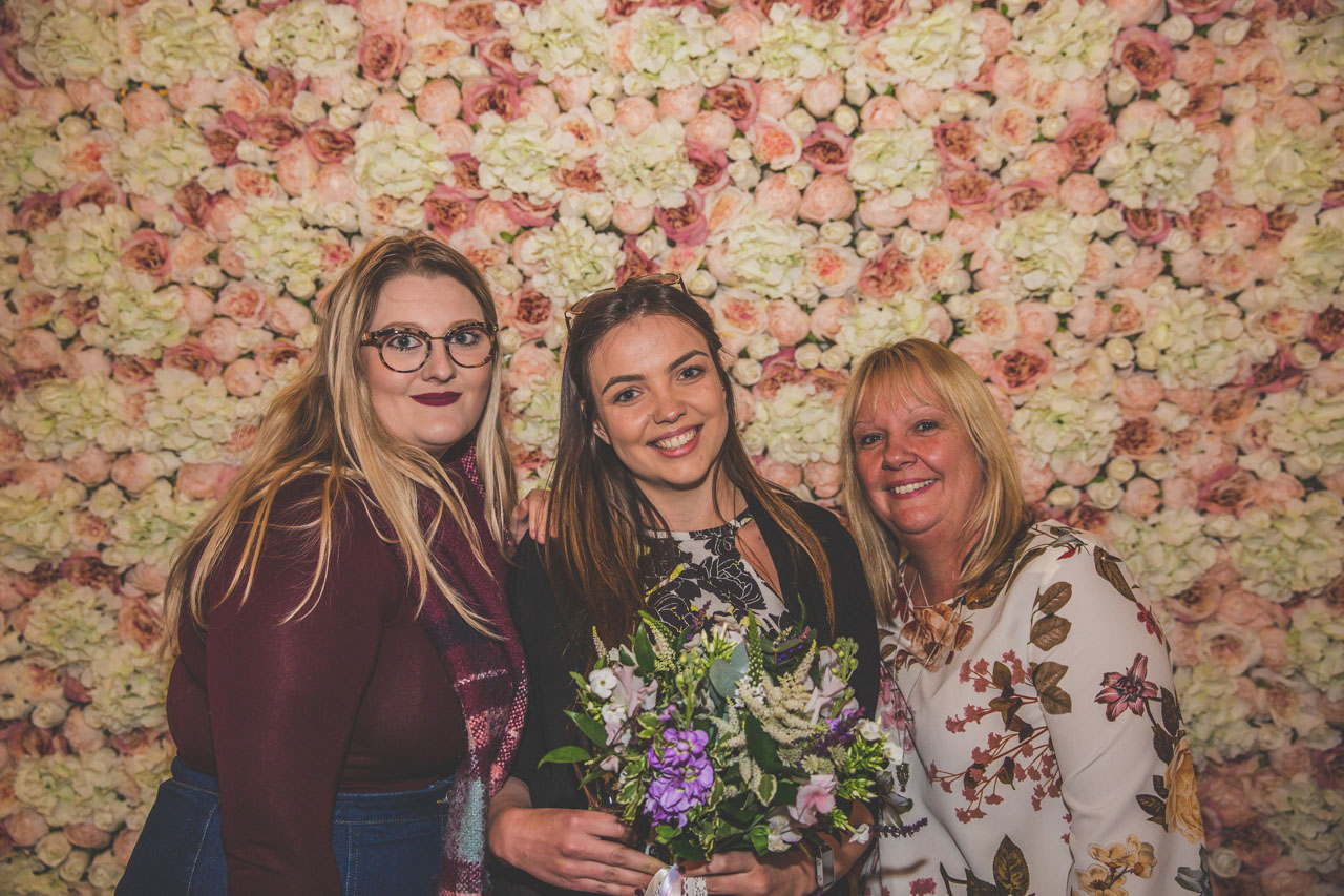 Bring the outdoors in with a beautiful flower wall as featured at the Engage wedding wedding planning party wedding fair Bedford. Image thanks to Nicki Shea