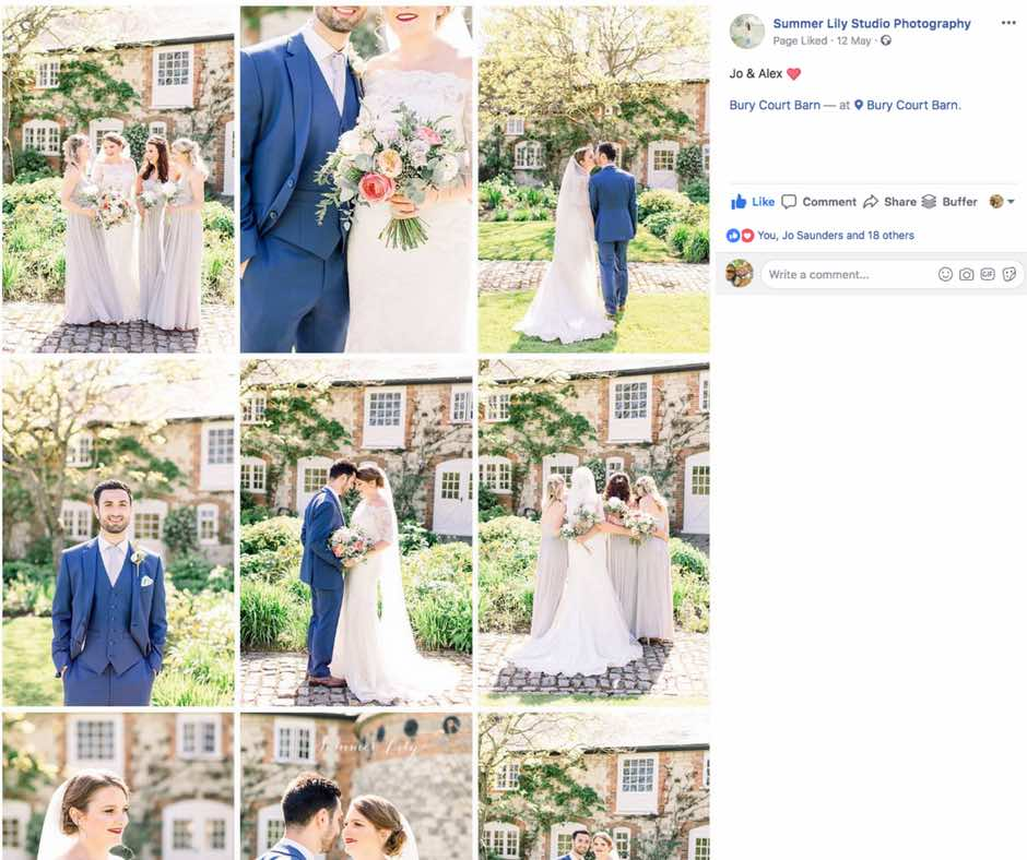 Jo and Alex wedding at Bury Court Barn - photographs by Summer Lily Studio