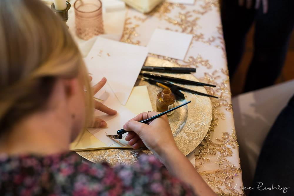 Try calligraphy at the Engage wedding planning party with Venue Styling by Sara - image courtesy of Lee Rushby