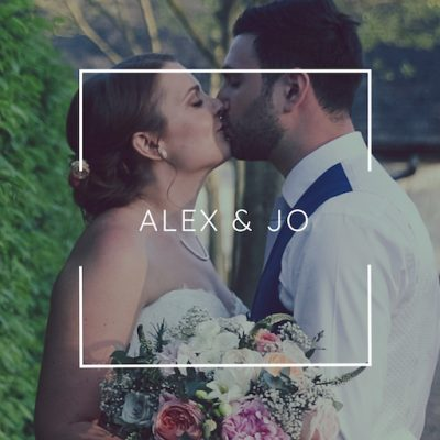 Jo and Alex kiss - Alex and Jo Wedding - Bury Court Barn Wedding Videographer - Film by Veiled Productions (wedding videographer Oxfordshire)