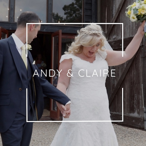 Andy and Claire leaving their wedding ceremony at Colville Hall - Essex Wedding Videographer Veiled Productions