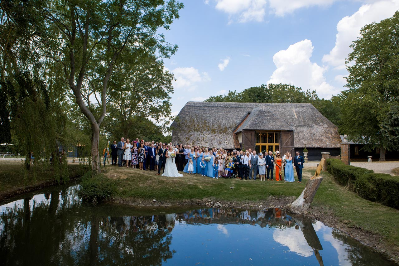 Claire Andy Wedding Photo of Everyone by Em J Photography - Colville Hall wedding videographer Veiled Productions