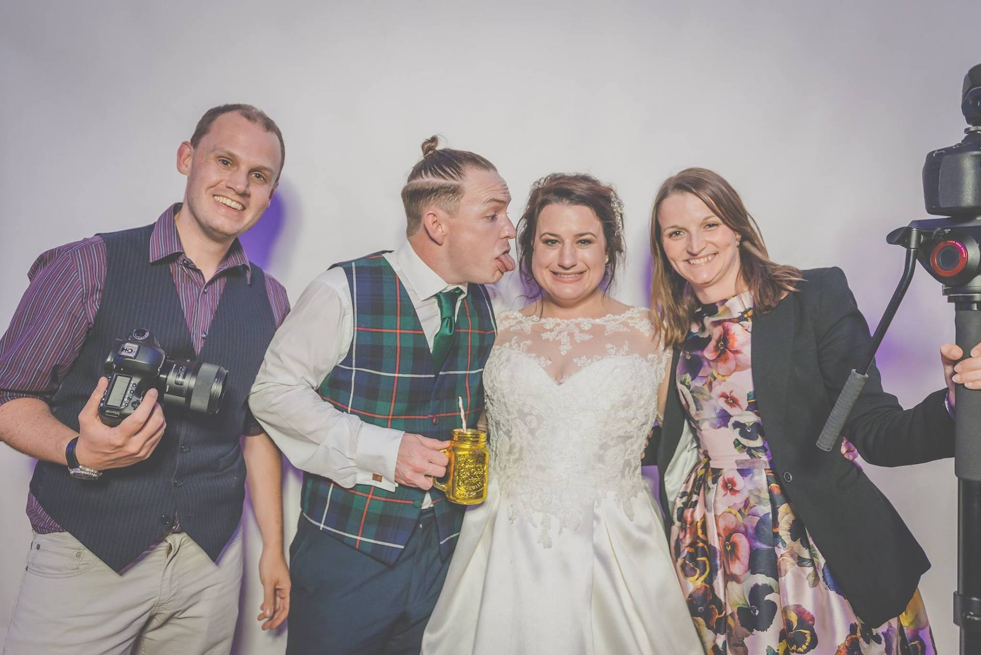 Rach and Pete of Veiled Productions with Soph and Stu - Photo courtesy of Monty Steedman Wedding Photography