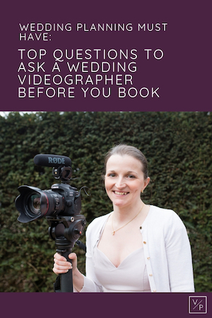 Top questions to ask your wedding videographer before you book by Veiled Productions - fun, unique wedding films for modern, family focused couples.