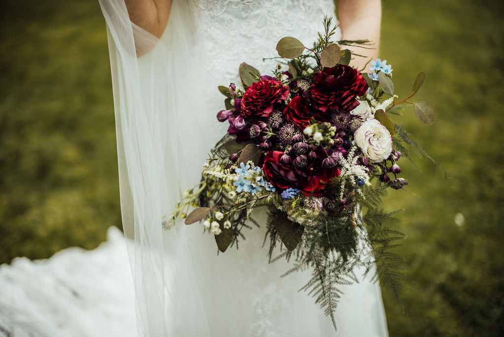 Jess' bridal bouquet. Photo thanks to Michelle Wood Photographer. Wedding Video by Veiled Productions - Shuttleworth House Wedding Videographer
