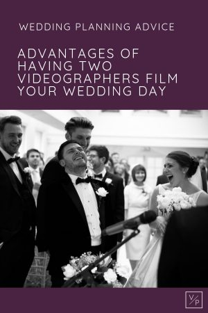 A moment of laughter between Liz and Luke during their wedding ceremony - the advantages of having two videographers film your wedding - every moment will be captured. Photography and videography by Veiled Productions